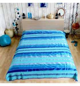 Blanket made of Sabra in Shades of Blue 2x3M