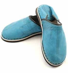 Babouches Amazigh turquoise