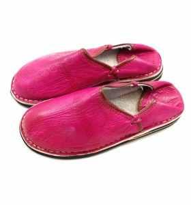 Amazigh Slippers made of Fushia Leather