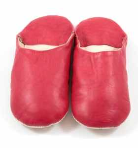 Flexible Slippers made of Red Leather