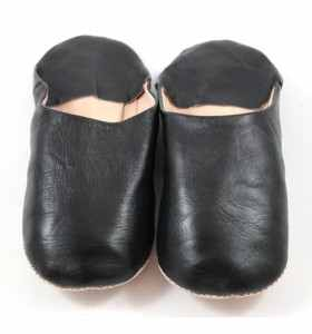 Flexible Slippers made of BlackLeather