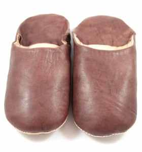 Flexible Slippers made of Brown Leather