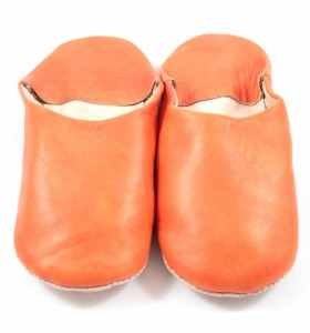 Flexible Slippers made of Orange Leather