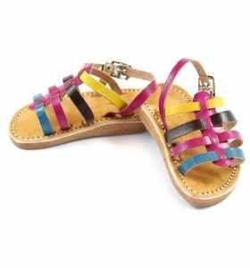 Sandales bébé Zouina turquoise rose marron jaune