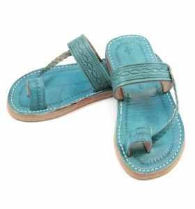 Sandales femme Chemch turquoise