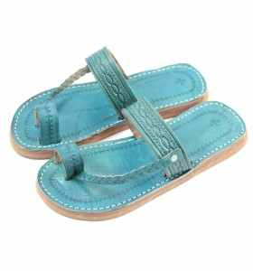 Chemch Sandals made of Turquoise Leather