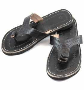 Sandales Rabia en cuir noir