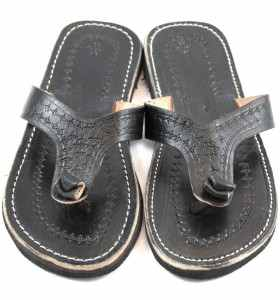 Rabia Sandals made of Black Leather