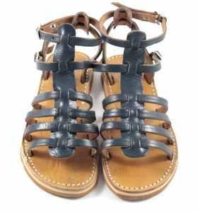 Sandalias BSIM de cuero azul