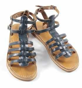 Sandales en cuir bleu BSIM