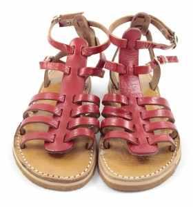 Sandales en cuir rouge BSIM