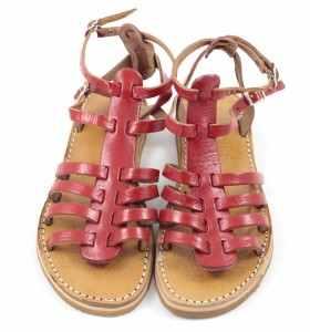 Sandalias BSIM de cuero rojo