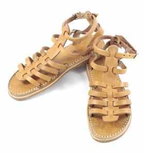 Sandales en cuir camel BSIM