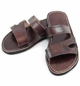 Sandales Sayf en cuir marron