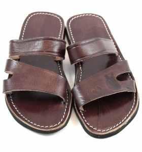 Sandalias Sayf de cuero marrón