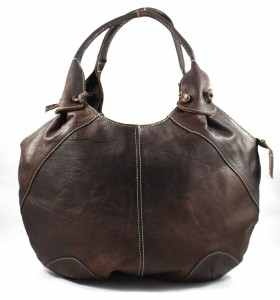 Bag made of Dark Brown Leather by Barta