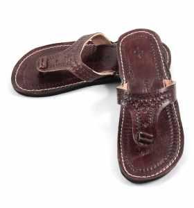 Sandales Rabia en cuir marron