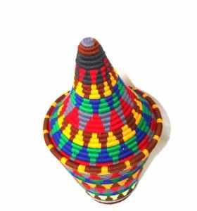 Corbeille conique ethnique berbère Idrissa