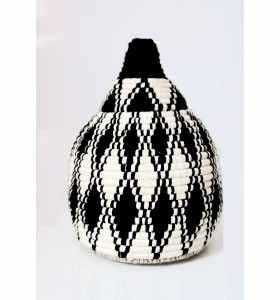 Basket made of Black Wool