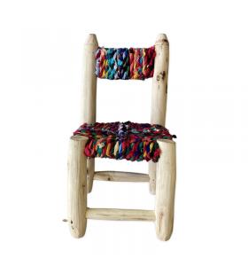 Petite chaise boucherouite boucharouette Darna