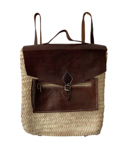 palm leaf backpack Oumaïma