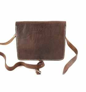 Bag made of Brown Leather by Faktour – M