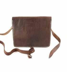 Bolso Faktour de cuero marrón talla M