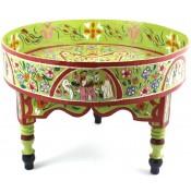 Table basse peinte à la main vert pomme
