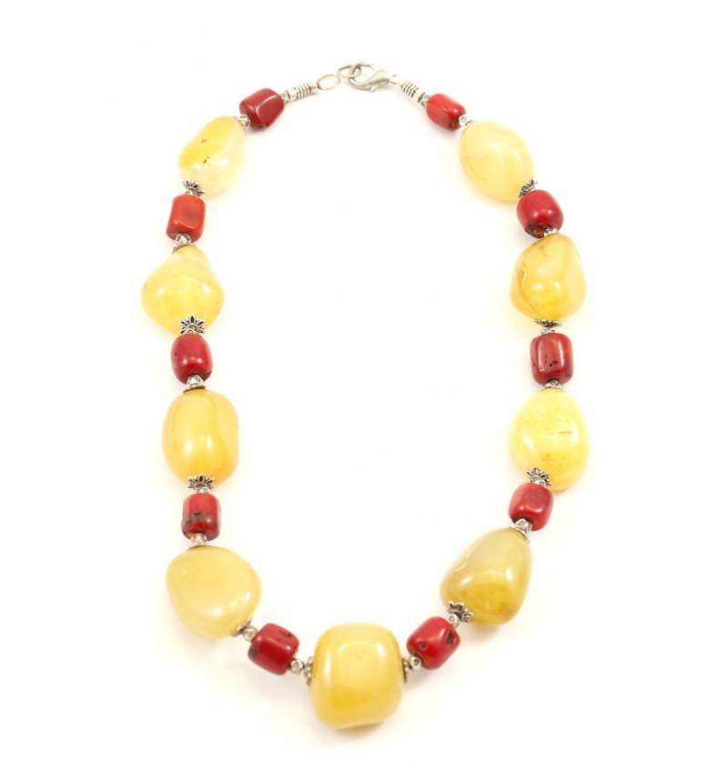 Collier Tafukt jaune et rouge