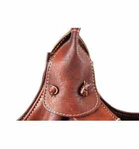 Bolso Barta de cuero marrón caramelo