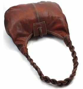 Bolso Aïssa de cuero marrón